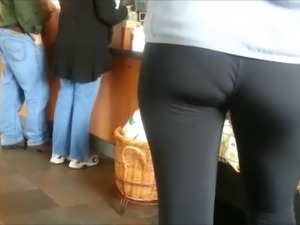 sexy assed teen in spandex