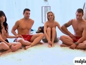 Playboy TVs Foursome begging scenes