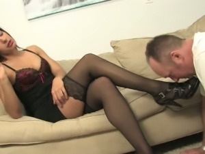Skylar Renee has her feet and heels licked