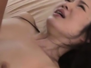 Japanese hairy pussy rammed