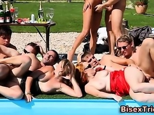 Bisex group fuck train