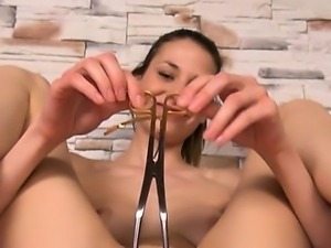 Gaping of her super extreme vagina hole