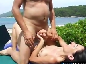 Couple Fucking At The Beach