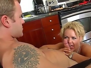 Jeremey Holmes is fingering and licking his friend hot mum, Kelly Leighs...