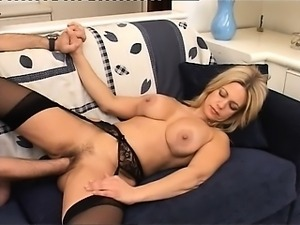 Fisting my beautfiul wife on the couch