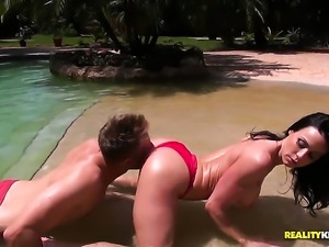 Mature with giant breasts and shaved bush enjoys another solo sex session