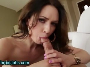 Cock hungry fetish babe deep throats
