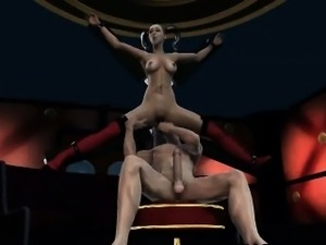 3D Harley Quinn gets licked and sucks on a cock