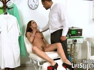Women with all kind of inhibitions visit the doctor's office, demanding a...
