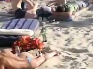 Naughty Couple At The Beach