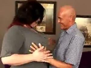 Dude plays with BBW Matalla's mega boobs