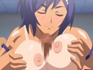 Hentai babe in swimsuit gets fucked