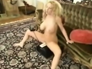 Fucked in pussy and ass by machines