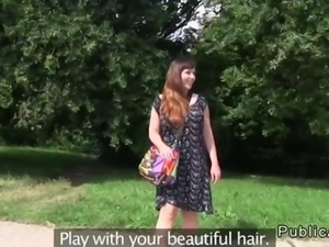 Busty mature amateur fucked in a park