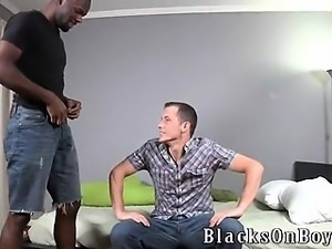 Black stud Intrigue is in the house at BlacksOnBoys.com and