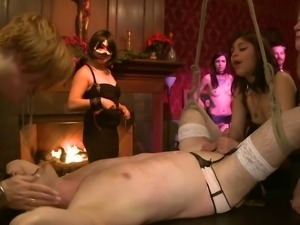 Kinky fuckers gather in hot bdsm orgy