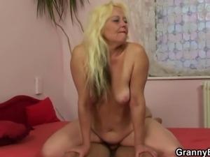 She enjoys riding his hard young cock
