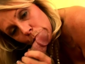 Slutty classy milf on knees pov sucking