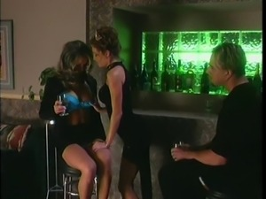 Hot mature whores are fucked by sugar daddy in private club room