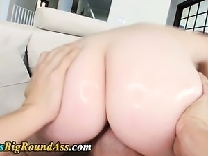 Curvy busty big ass babe rimmed and fucked