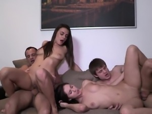 The Art Of Foursome With Sexy Girls Carly And Adel