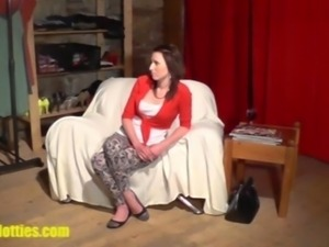 Hot 19yo chick teased at the CASTING