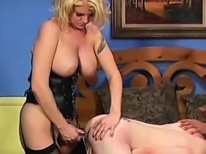 blonde babe and two horny bi-males