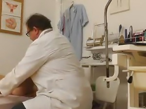 Old strange doctor with a hidden cam