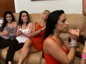 Steamy hot oral sex party
