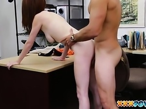 Jenny screaming loud as she gets fucked in a pawn shop