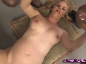 Dirty pregnant gang bang hoe cum drenched by black cocks