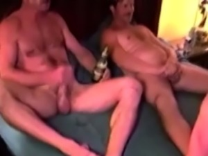 Gay group orgy with jerking old guys