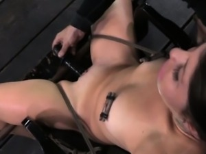 TT gagged sub getting her pussy punished