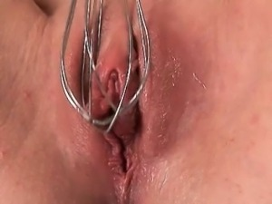 Sexy blonde girl loves fucking her own