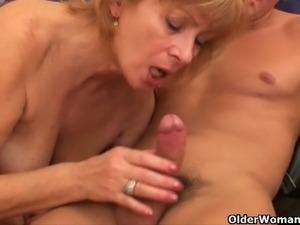 Two mature sluts get banged deep and hard