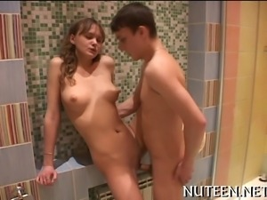 Teen licked and nailed