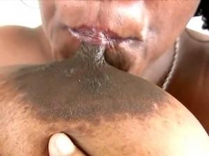 Ebony BBW with giant tits