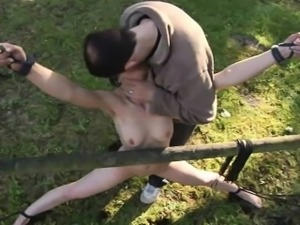 Skinny mini slave slut exploited for bondage fantasy