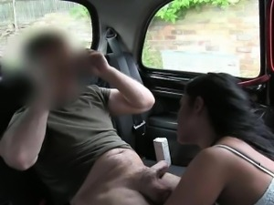 Kinky black haired whore pussy ripped for a free cab fare