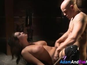 Big tit sub babe fucked