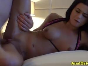 Fist time anal loving slut fucked hard after sucking dick