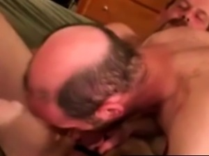 Southern hairy bears toying their asses