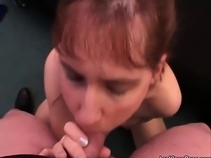 Hot and nasty redhead mature whore is getting horny and