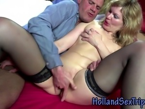 Dirty dutch prozzie fucks and gets cumshot in hi definition
