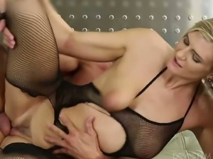 Hot chicks with hairy muffs fucking rough