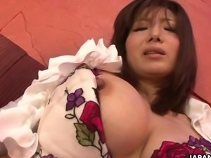 Provocative Japanese gal uses sex toys on her wet twat