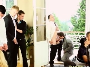 Hardcore cocksucking orgy