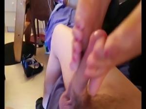 arab mistress footjob