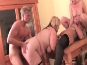 Three horny blonde mature sluts part3