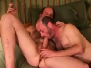 Gaystraight mature redneck drools on cock